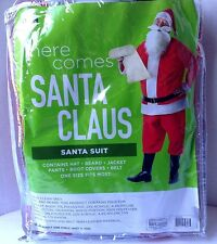 Here Comes Santa Claus SANTA SUIT Costume Adult One Size Fits Most NEW