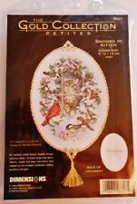 NIP Gold Collection Petites Kit SNOWED IN KITTEN Dimensions Christmas Ornament