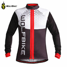 2017 Winter Thermal Fleece Cycling Long Sleeve Jersey Jackets Bike Chest 39 inch