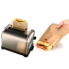 7.6'' Reusable Non-Stick Toaster Bags Oven Grill Panini Pizza Sandwich Cook Tool