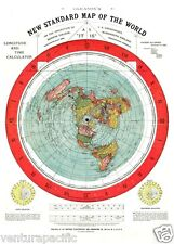 Gleason's New Standard Map of the World [Flat Earth]  : circa 1892