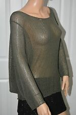 Eternal SUNSHINE Creations See Through Buttoned Back Butterfly Sleeves Sweater S