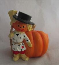 Vintage 1950s Relpo Ceramic Halloween Dressed Scarecrow&Pumpkin Planter Vase