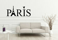 PARIS Love Heart Decor Wall Art Decal Quote Words Lettering DIY Sticker