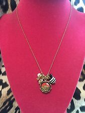 Betsey Johnson Vintage Miami Chic Lucite LOVE City Heart Pearl Charm Necklace