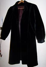 VINTAGE GRANDAZIA by GLENOIT Faux MINK Coat in Black - Made in U.S.A! - EUC!