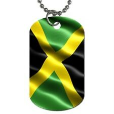 NEW JAMAICAN FLAG DOG TAG AND FREE NECKLACE