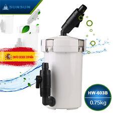 SUNSUN HW-603B FILTRO EXTERIOR COMPLETO 400L/H 6W LLAVES MANGUERAS para acuario