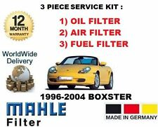 FOR PORSCHE BOXSTER 2.5 2.7 3.2 1996--  3 PIECE SERVICE OIL AIR FUEL FILTER KIT