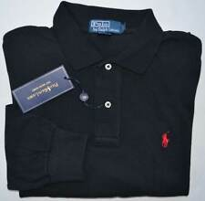 New 3XLT 3XL TALL 3XT POLO RALPH LAUREN Men long sleeve shirt black top red pony