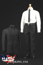 1/6 Men Suit Shoes Full Set For Hot Toys Phicen Male Figure S.H.I.E.L.D. Agent