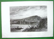 GERMANY Andernach on Rhine River - Antique Print by Birket Foster