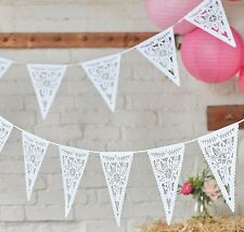 Floral Paper Bunting x 3 m - Wedding/Party Decoration- Ginger Ray
