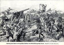1914 Montenegro: k.u.k. Truppen erobern schweres Geschütz * antique print