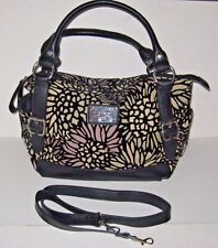 RELIC Black Bleeker Satchel Shoulder Hand Bag Strap Purse Pocketbook Multi-color
