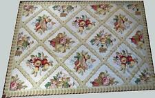 Large handmade French design needlepoint area rug or tapestry