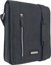 UNICORN Bolsa de cuero genuino - iPad, Tablet accesorios Bolsa - Negro #5K
