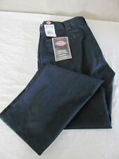 NEW MEN'S DICKIES DARK BLUE KHAKI/CHINO PANTS SIZE 36X34 WORKWEAR