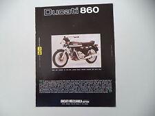advertising Pubblicità 1974 MOTO DUCATI 860