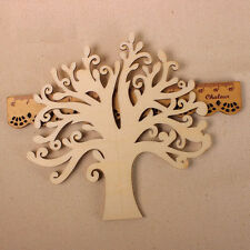 Wooden MDF Autumn Tree Shape Craft Blank Wedding Guestbook Decoupage Decor 1X