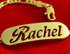 Name Bracelet RACHEL 18ct Gold Plated Mother's Day Personalized Jewellery Gift