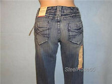 NEW Aeropostale Junior Girls Chelsea Boot Cut Pin Striped Blue Jeans 1 / 2 R