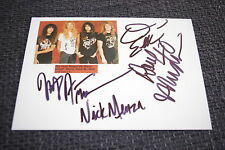 Megadeth Dave Mustaine Nick Menza signed autógrafos a 13x18 cm foto inperson