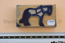 N213 French antique school rubber stamp farm cart horse tampon cheval trait