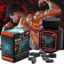 USA Black Gold Effect 100% Sex Pill Enhancer all Natural Herbal man  16Pills/Box