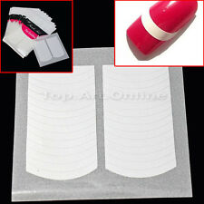 20 Paquets Stickers Autocollants DIY Ongle Nail Art Fringe Tips Guides Manucure
