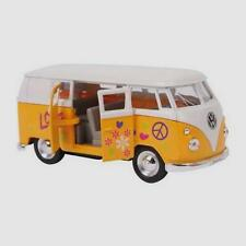 Yellow 1963 Scale Model VW Volkswagen Hippie Camper Van Bus Toy Boxed-9329 &