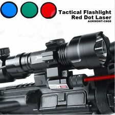 Cree XML1200LM Tactical Scope Mount Light Lamp Red Dot Laser Gun Air Rifle Torch