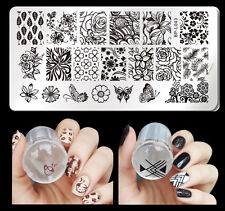 2pcs/set Born Pretty Nail Art Stamping Plate Butterfly Style Stamper Scraper DIY