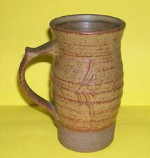 Roger Cockram Studio Pottery - Attractive Tall Tankard 16cm - Full Potters Mark.