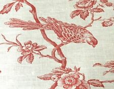 RED TOILE BIRD ON A BRANCH  MOUSE PAD  IMAGE FABRIC TOP RUBBER BACKED