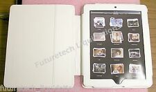 i-CON BY ASD LEATHER BOOK-STYLE FOLIO CASE (WHITE) FOR IPAD 1 & 2 - ASD312