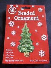 Beaded Christmas Tree Ornament Kit- Wire Cord Beads included - Holiday Keepsake