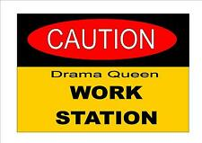 Fun Office Sign Workplace Sign Office sign shop Drama Queen  Sign Bar Room Sign