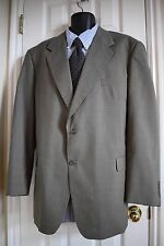 Kilburne And Finch 48L 2 Button Nothced Lapels Taupe Wool Blend Gold Lined Suit