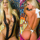 Sexy Women Lingerie Intimates BabyDoll Backless Mesh Sleepwear Dress Lace Crazy
