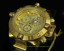 16144 Invicta Subaqua Noma IV 18K Gold Plated Swiss Chronograph BLK Strap Watch