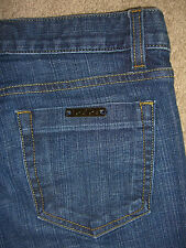 BEBE Flare Stretch Denim Jeans Womens Size 28P x 31.5 Made In USA