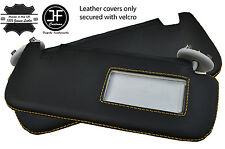 YELLOW STITCH 2X SUN VISORS LEATHER COVERS FITS TOYOTA COROLLA 07-13 SALOON