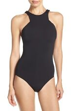 NEW Seafolly High Neck One-Piece Swimsuit-Black-Size (US) 10