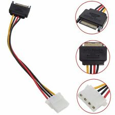 1PCS SATA 15-pin Male Power Cable to Molex IDE 4-pin Female Power Drive Adapter