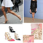 Summer Sexy Strappy Stud Rivet High Heel Pumps Toe Stiletto Buckle Pointed Shoes