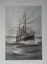 "1899 PRINT H.M.S ""TALBOT"" BRINGING HOME LORD HERSCHELL'S BODY- FOOCHOW WOMEN"
