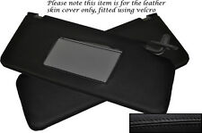 BLACK STITCH FITS HONDA PRELUDE MK5 1997-2001 2X SUN VISORS LEATHER COVERS ONLY