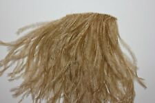 One metre ( 39 inches ) 5 PLY Old Gold colour designer ostrich feather fringe