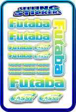 FUTABA SERVO RADIO RX TX 2.4G FLIGHT REMOTE CONTROL STICKERS FASST BLUE YELLOW W